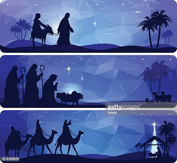 illustrations, cliparts, dessins animés et icônes de bible story - nativity - lannonciation
