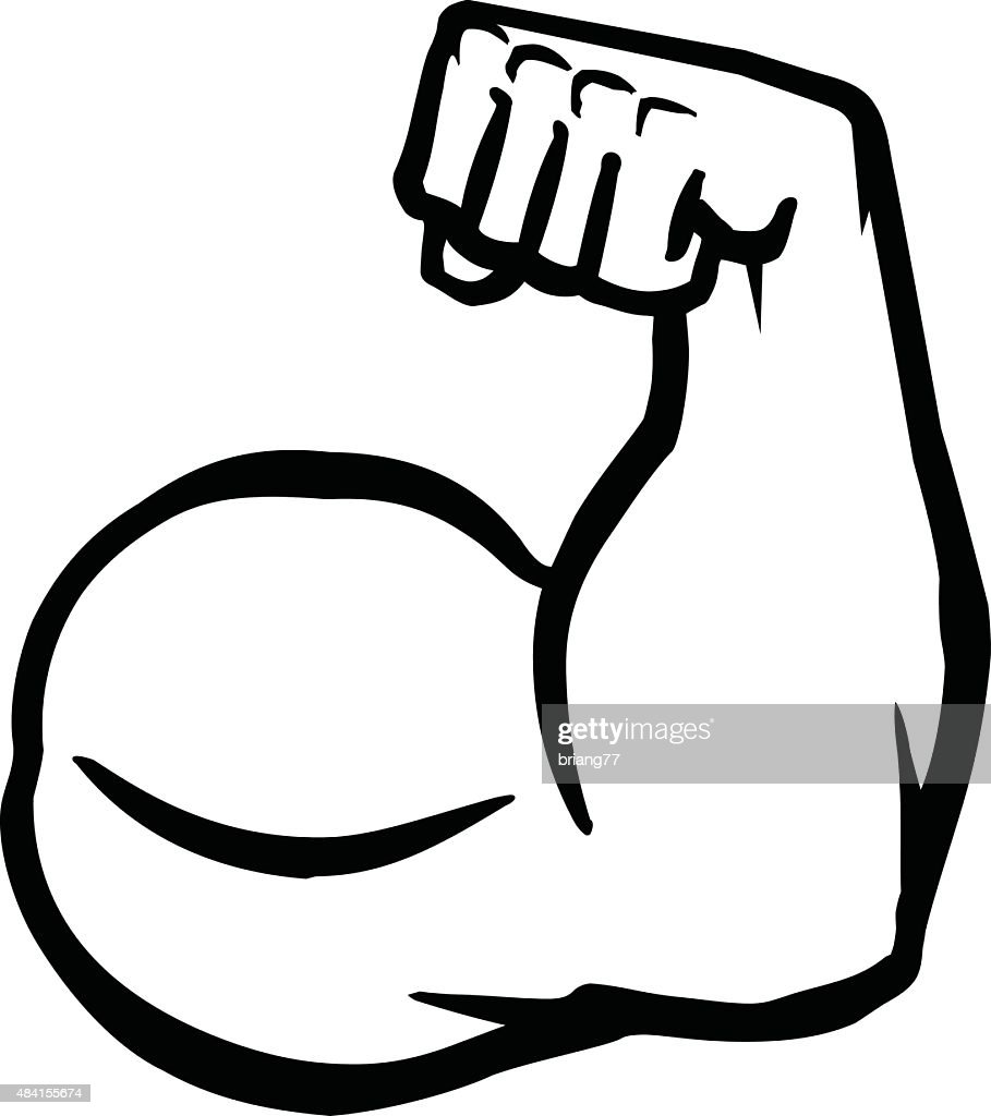 Biceps Flex Arm Vector Icon
