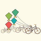 bicycle and kite background