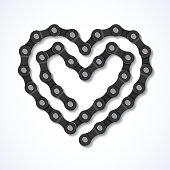 Bicycle chain heart