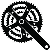 bicycle cogwheel sprocket crankset symbol