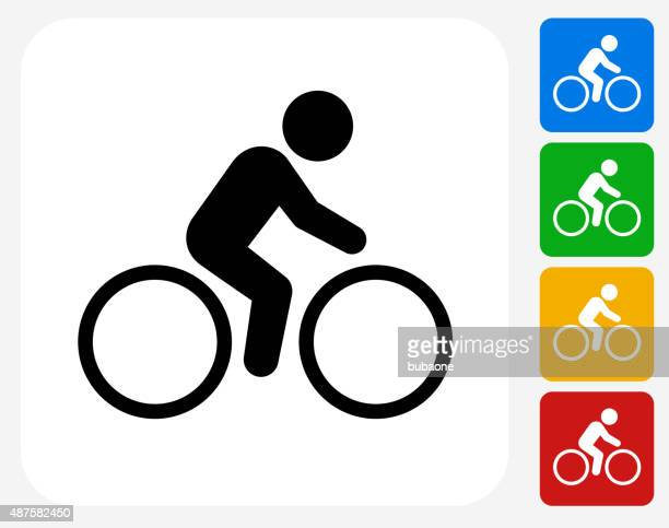 Bicycle Icon Flat Graphic Design