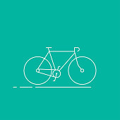 Bicycle icon on colorful background.