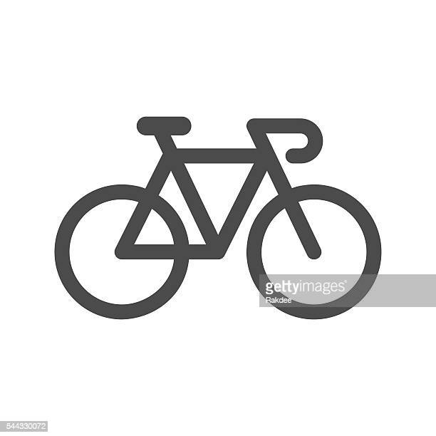 bicycle icon - road marking stock illustrations