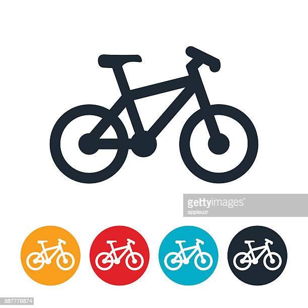 ilustraciones, imágenes clip art, dibujos animados e iconos de stock de icono de bicicleta - mountainbike