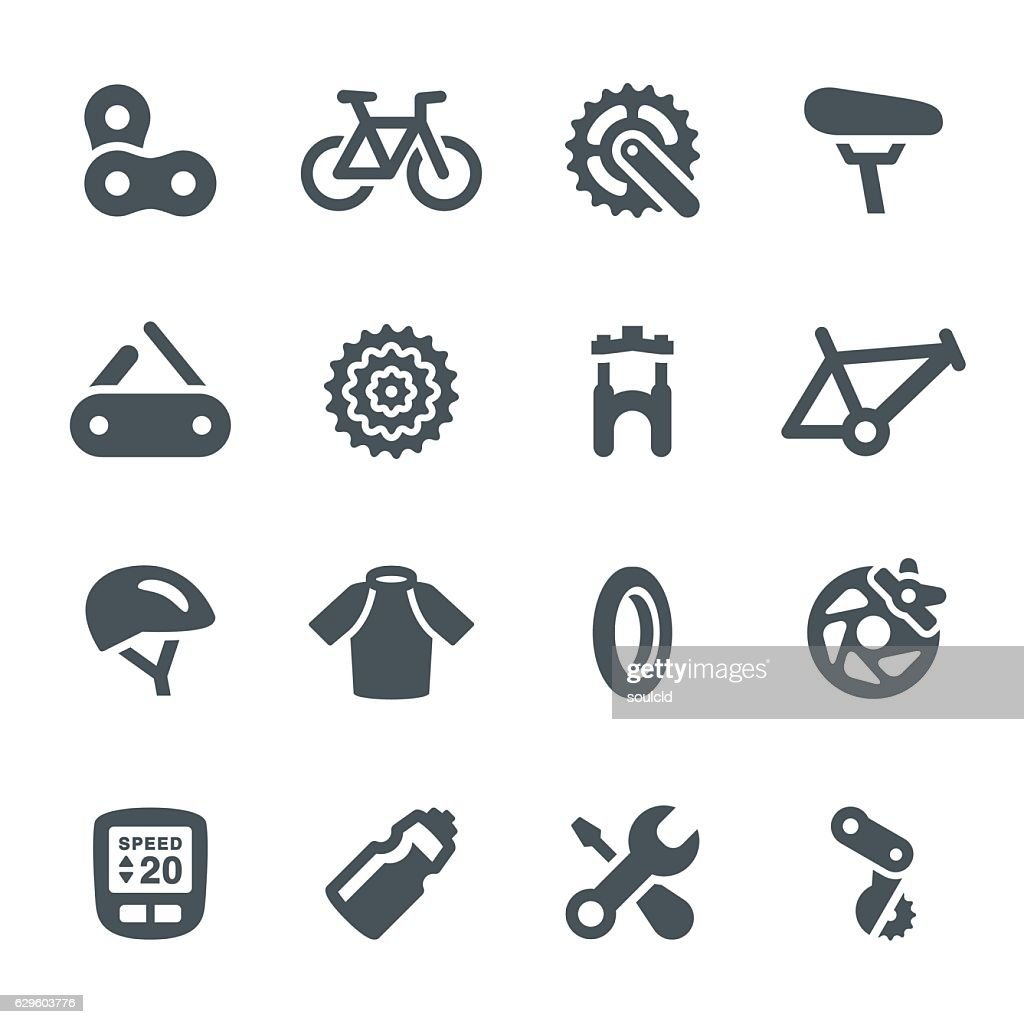 Bicycle Icons : stock illustration