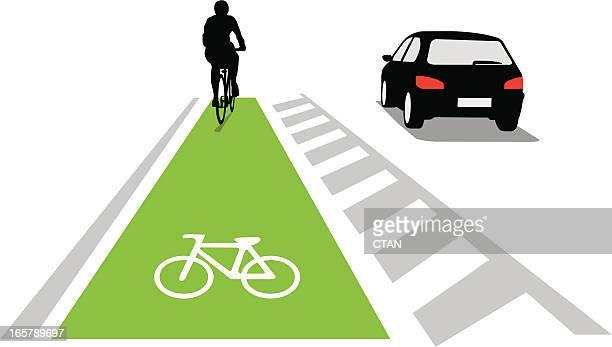 bicycle lane concept - bicycle lane stock illustrations