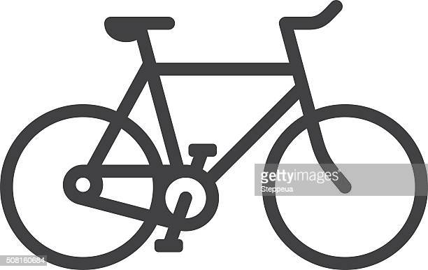 bicycle line icon - bicycle stock illustrations