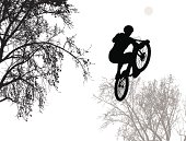 Bicycle Motorcross Vector Silhouette