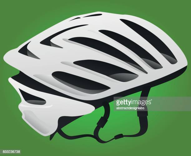 bicycle or cycling helmet - illustration - motorcycle helmet isolated stock illustrations, clip art, cartoons, & icons
