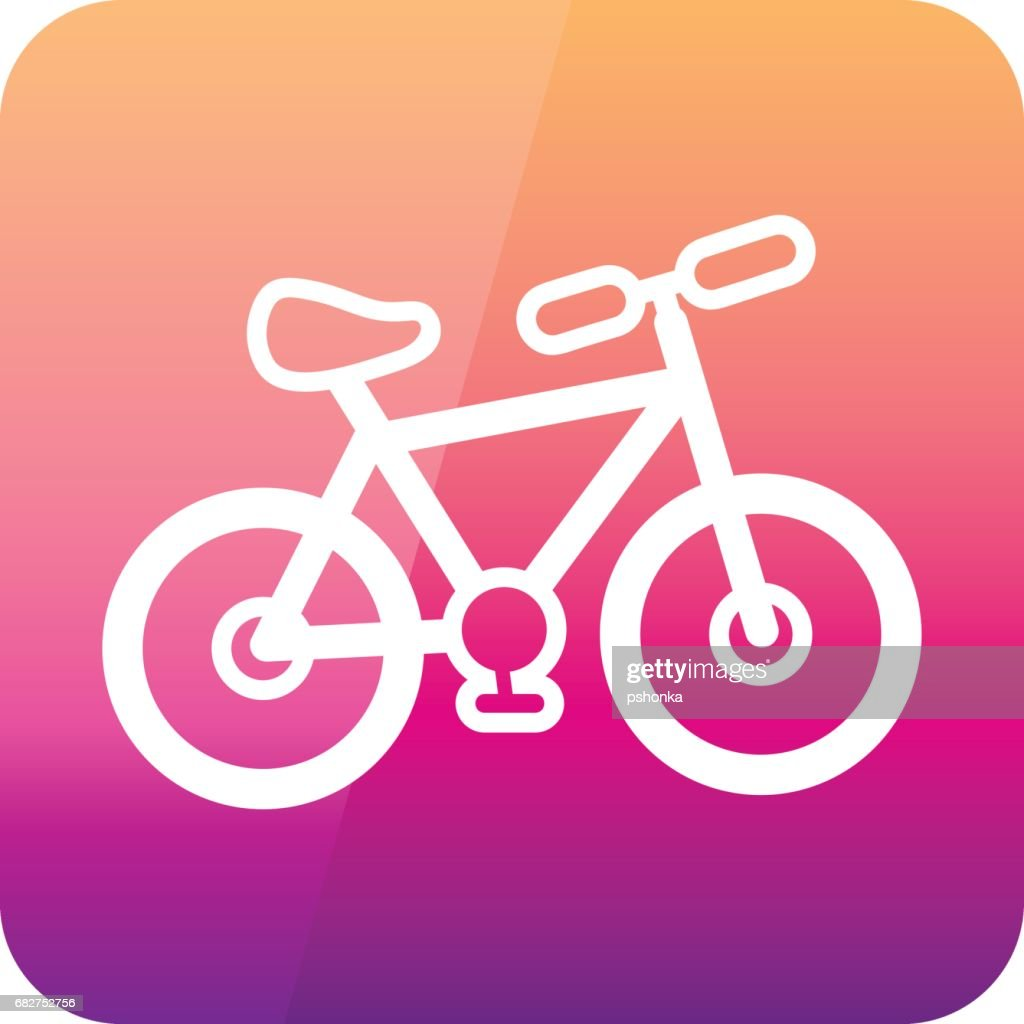 Bicycle outline icon. Summer. Vacation