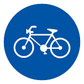 Bicycle Parking Symbol Sign, Vector Illustration, Isolate On White Background Label .EPS10