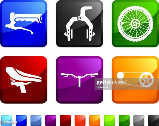 Bicycle Parts royalty free vector icon set stickers