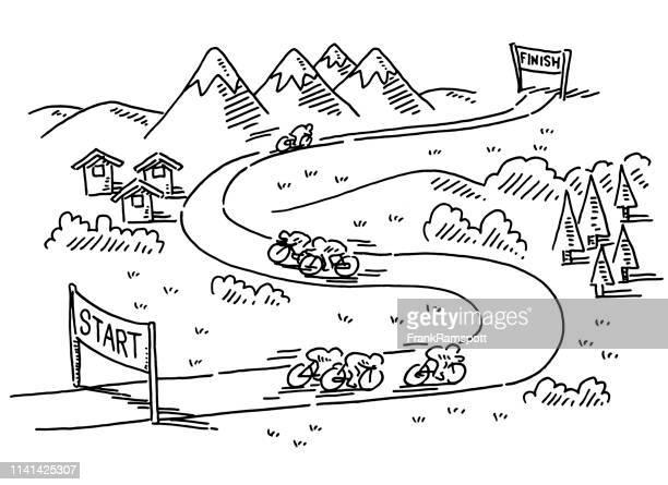 radrennen startet finish - sports round stock-grafiken, -clipart, -cartoons und -symbole
