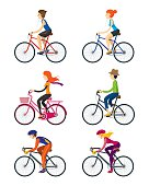 Bicycle Riders, Man, Woman, People