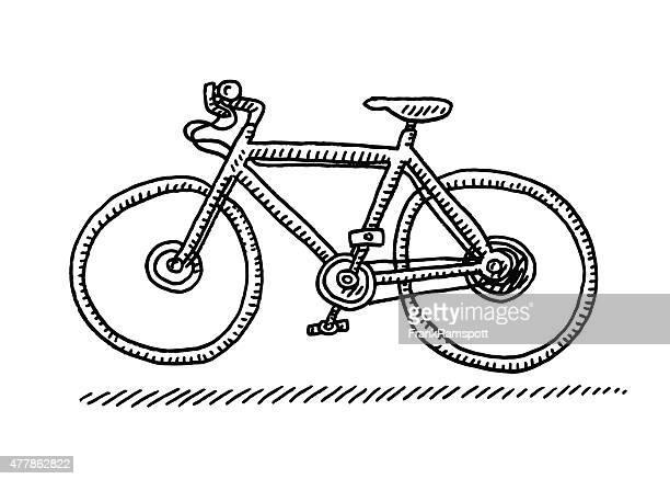Illustrations et dessins anim s de faire du v lo getty - Dessin velo vtt ...