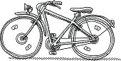 Bicycle Side View Drawing