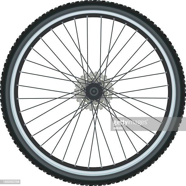 bicycle tire - wheel stock illustrations, clip art, cartoons, & icons