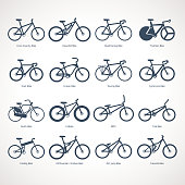 Bicycle Types, vector illustration