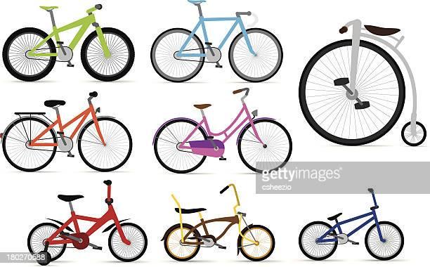 ilustraciones, imágenes clip art, dibujos animados e iconos de stock de bicicleta - mountain bike