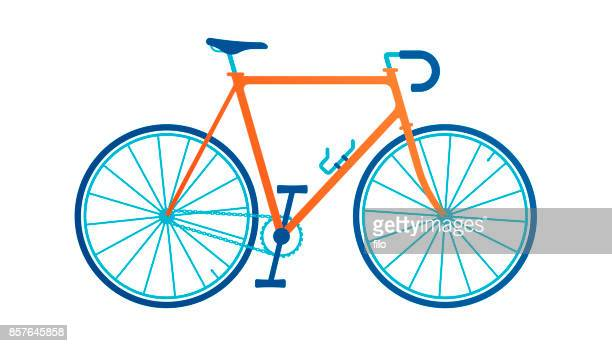 stockillustraties, clipart, cartoons en iconen met fiets - fietsen