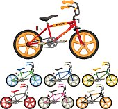 BMX Bicycle Vector Illustrations