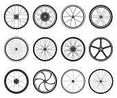 Bicycle wheels set