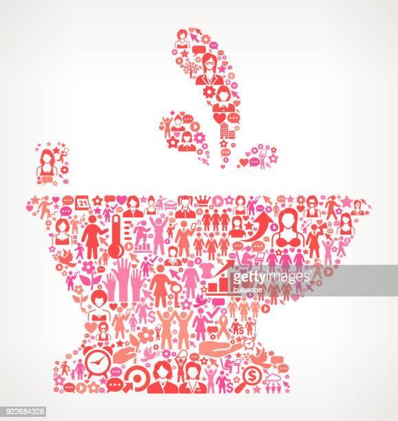 ビデ女性の権利と女の子電源アイコン パターン - ビデ点のイラスト素材/クリップアート素材/マンガ素材/アイコン素材