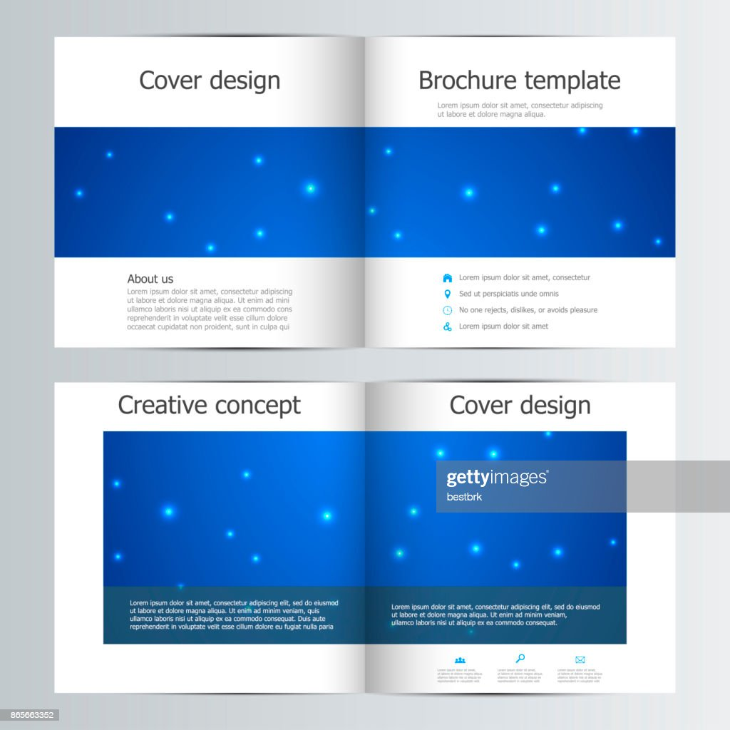 bifold brochure template with abstract background vector