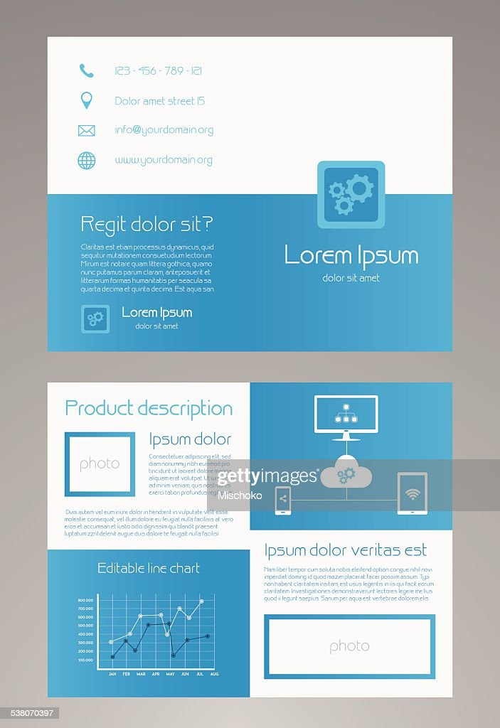 Bifold Business Brochure Template 85x11 Inches Vector Art | Getty Images