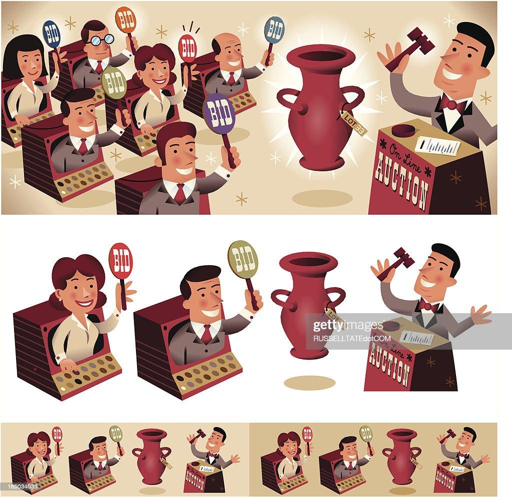Big Auktion! : Stock-Illustration
