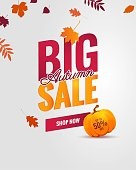 Big autumn sale poster.