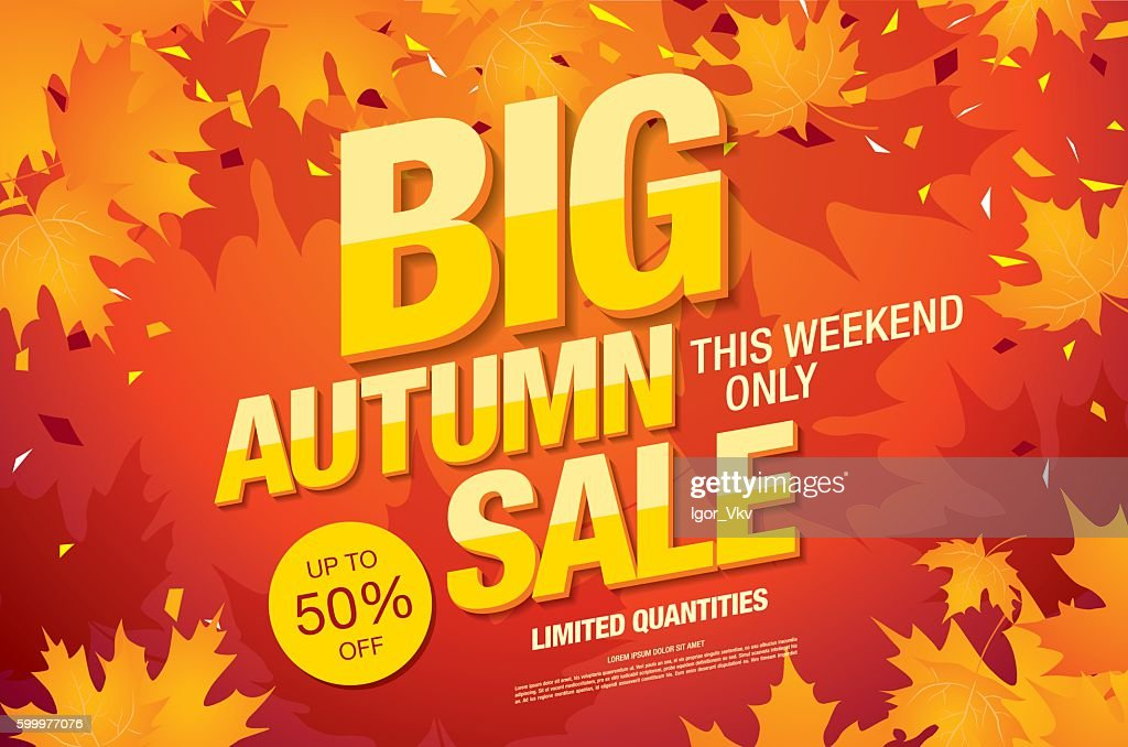 Big autumn sale template banner