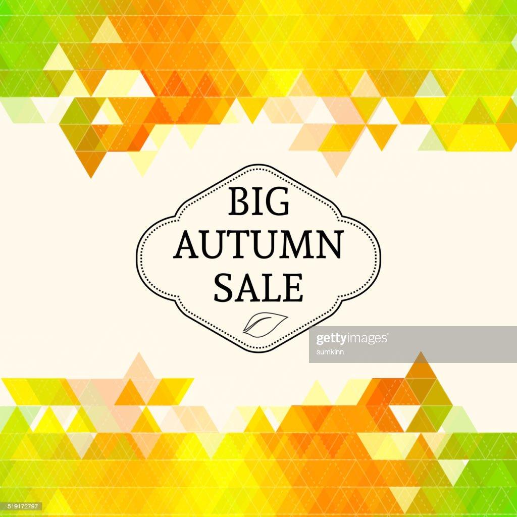Big autumn sale.