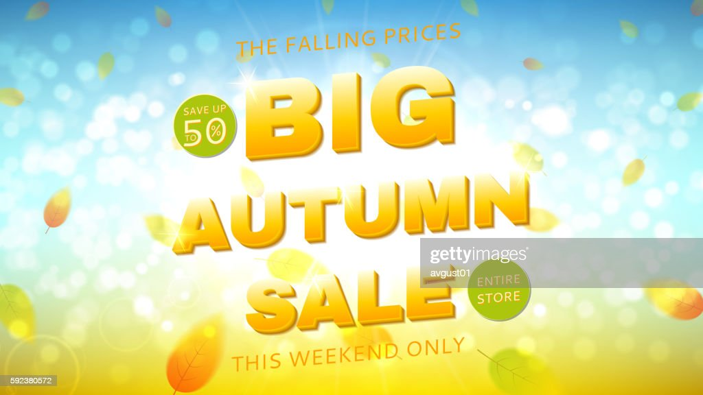 Big autumn sale web banner