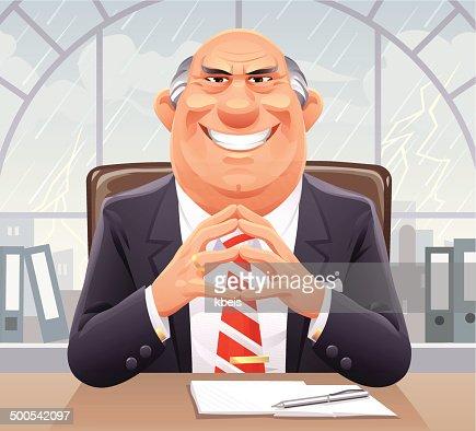 Big Bad Boss stock illustration Getty Images