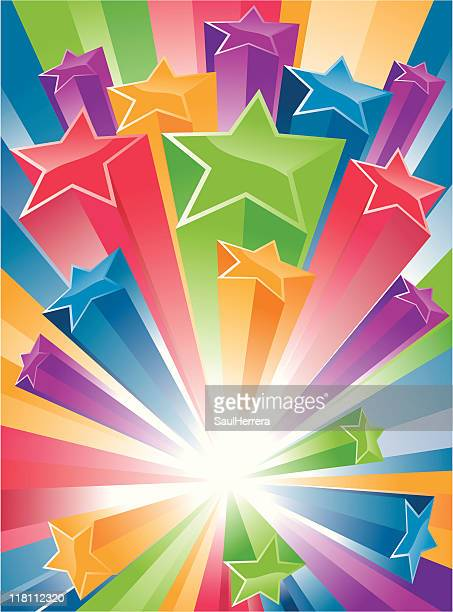 big bang stars - blast banner - great exhibition stock illustrations, clip art, cartoons, & icons
