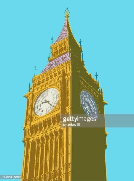 illustrations, cliparts, dessins animés et icônes de big ben et les chambres du parlement - brexit