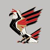 Big Bird. Eagle. Vector