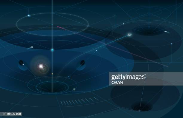 big black holes - nebula stock illustrations