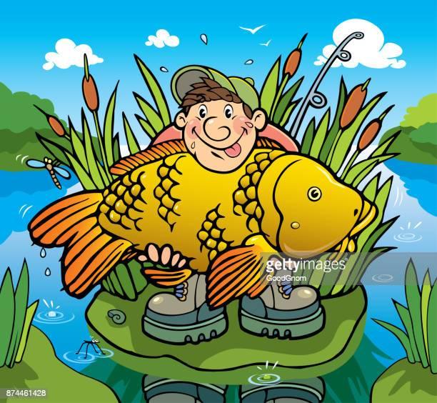 illustrations, cliparts, dessins animés et icônes de big carp - carpe