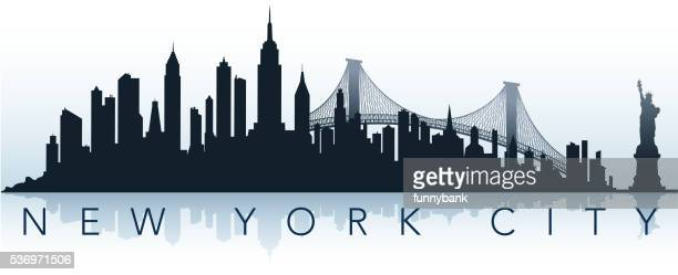 big city silhouette - skyline stock illustrations