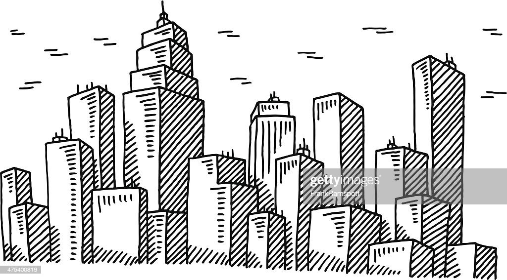 Big City Skyline Drawing