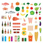 Big collection of food items.