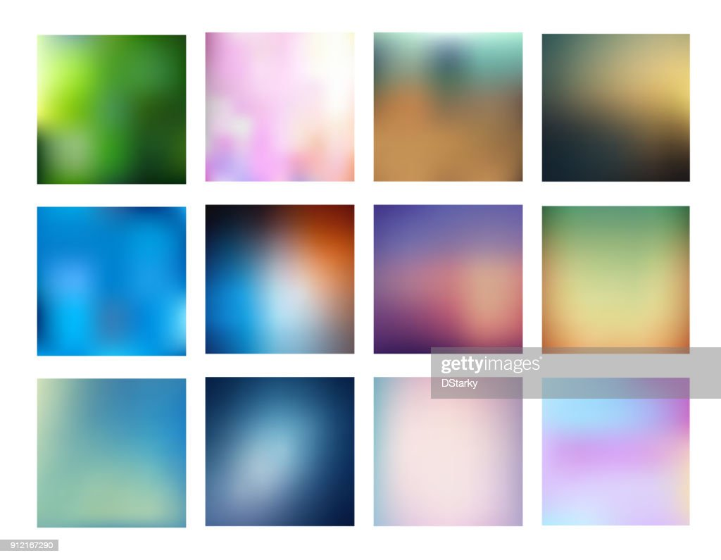 Big collection of smooth and blurry colorful gradient mesh background.