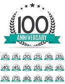 Big Collection Set of Template Logo Anniversary Vector Illustrat