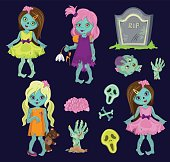 Big collection zombie girls.