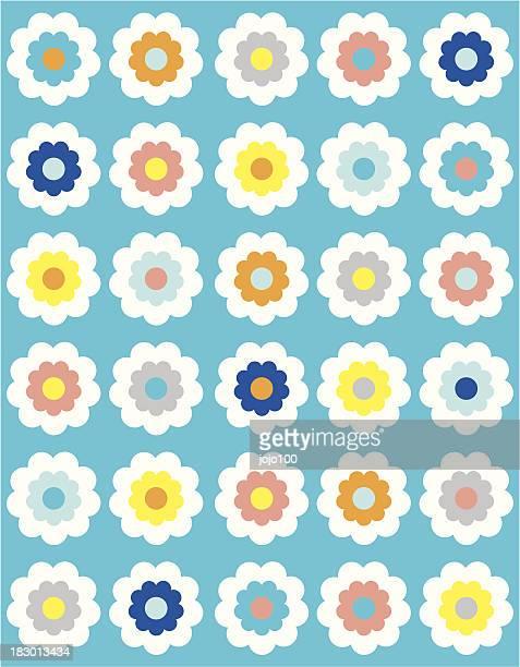 Margarida flor grande repetição padrão