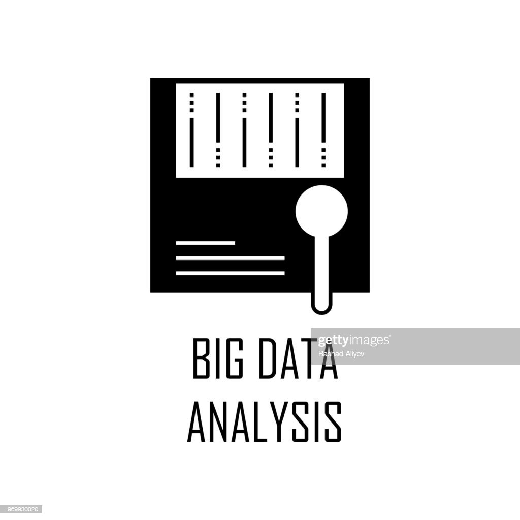 big data analysis icon. Element of Web Development for mobile concept and web apps. Detailed big data analysis icon can be used for web and mobile. Premium icon