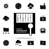 big data analysis icon. Web Development icons universal set for web and mobile